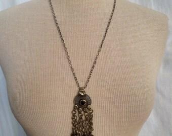 Vintage kuchi pendant belt 24 inch chain necklace with vintage kuchi pendant aloadofball Gallery