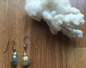 Handmade Aquamarine Teardrop Earrings