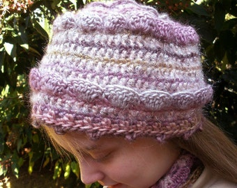 Rose Glow Cap and Scarf Crochet Pattern Combo