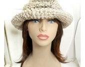Crochet Sun Hat, Floppy Sun Hat, Floppy Hat, Womens Crochet Hat Crochet Womens Hat Trendy, Hemp Hat, Natural Hat, MONCHERIE Wide Brim Hat