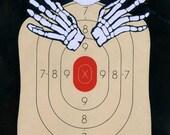 Misfits - Hand Painted Paper Shooting Target Art