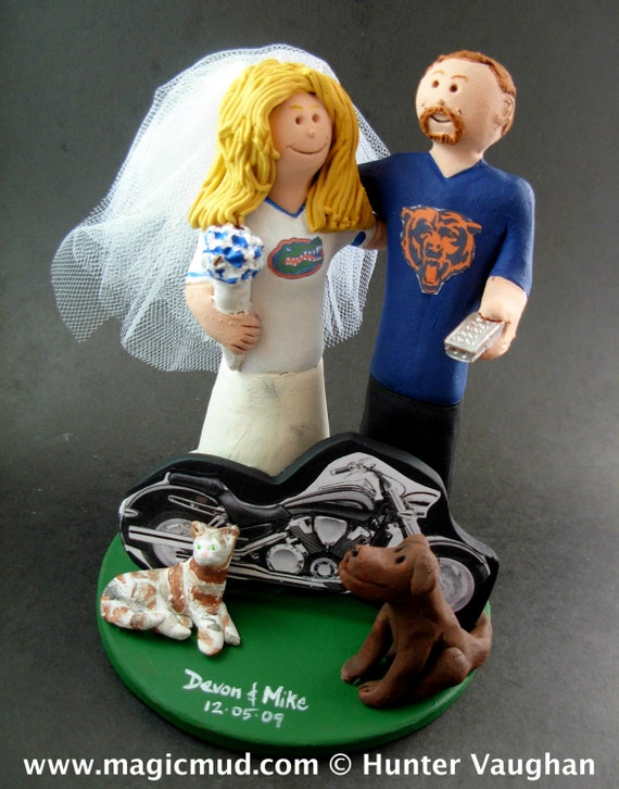 florida gator wedding cake toppers chicago bears wedding cake topper florida gators wedding cake 14326