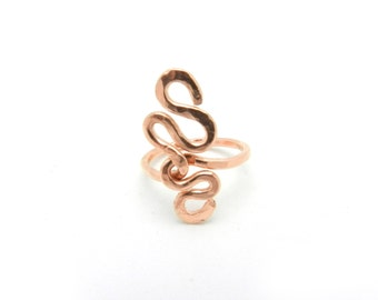 Copper Ring, Copper Jewelry, Hammered Ring, Wire Ring, Unisex Jewelry, Men's Ring, Unisex Ring, Minimalist Ring, Copper Jewelry
