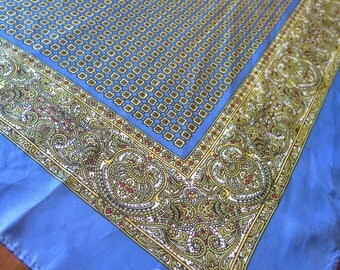 Vintage SCHIAPARELLI Large Silk Square Scarf
