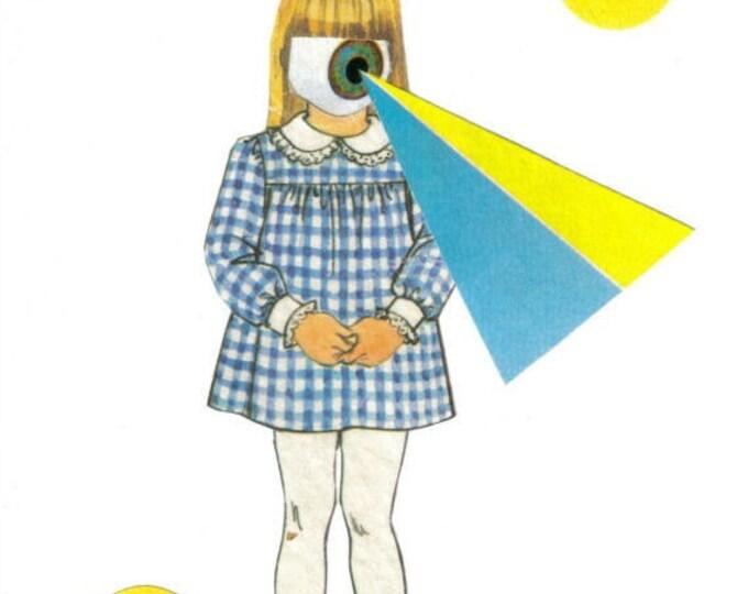 Weird Eye Spy, Creepy Dark Art, Strange Original Artwork