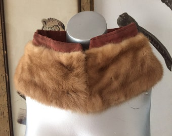 Lovely Pale Brown Mink Collar Ready for Your Coat