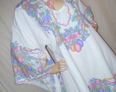 Easter Bunny Dashiki Caftan Pink Blue Green Pastel Cruise Dress Angel Wing Resort Island Hippie Holiday Dress Easter Parade Egg Adult to 1X
