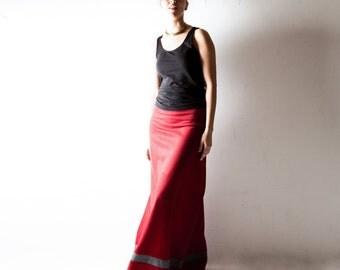 Red Wool skirt, Wrap skirt, Maxi Skirt, Long skirt, Aline skirt, Boho skirt, Winter skirt, Maternity clothes, bohemian skirt, plus size