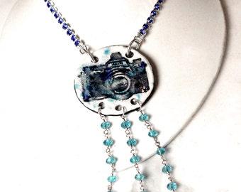 Boho Longline Ceramic Camera Necklace