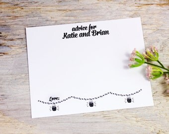100 Wedding Advice Cards -  Personalized with Your Names
