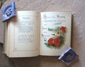 Christian Forget Me Not - Illustrated Edition Miniature Antique German Book Religious Quotes