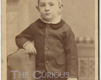 Antique photo Victorian little boy