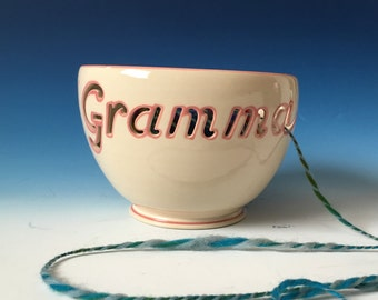 Knitting / Crocheting Yarn Bowl for Gramma - Ready to Ship