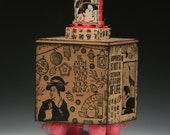 Japanese Geisha Box, Kanji, Handmade Box, Asian Decor