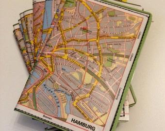 Slim Wallet- Vintage Europe Map- choose 1