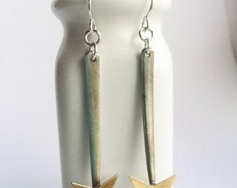 Fork Tine Arrow Earrings