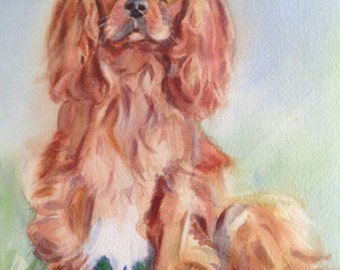 Pet Portrait Custom Watercolor - One or Two pets - on Watercolor Paper