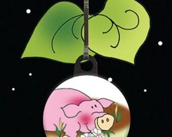 Zipper Charm - Piggy