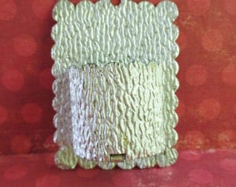 Vintage Faux Bois Aluminum Match Holder