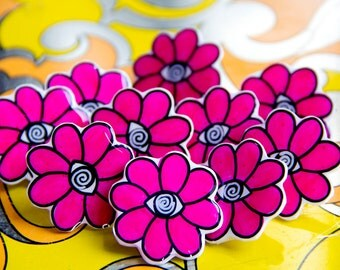 Limited Edition of 10 / Flower Hypno Power Brooch / Pin