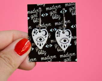 Ouija Planchette Dangle Earrings - Hallowqueen Collection