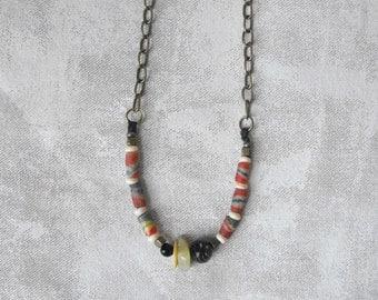 Boho Necklace// Beaded Necklace // Tribal Necklace // Bohemian Necklace // Modern Boho Jewelry Handmade by Luluanne
