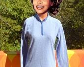 vintage 90s PATAGONIA fleece jacket henley shirt capilene synchilla pullover half zip women's Large Medium blue purple