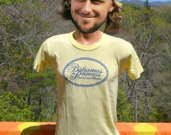vintage 80s t-shirt i'm a PRINCESS cruise bahamas ship beach tropical soft thin tee Medium Small