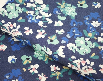 Painterly Wash in Indigo from The Denim Studio by Art Gallery Fabrics - fabric by the quarter yard