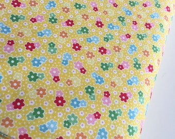 SALE Backyard Roses fabric, Backyard Roses Floral in Yellow, Discount fabric, Riley Blake Fabrics, Fabric by the yard, Choose your cut
