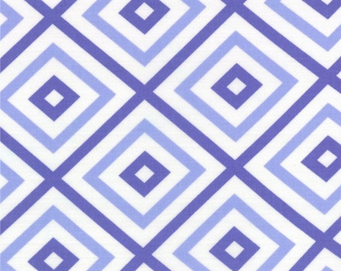 SALE Fabric, 6 dollars per yard sale, Purple fabric, Me and My Sister Designs, Geometric Squares- Choose your cut, Free Shipping Available