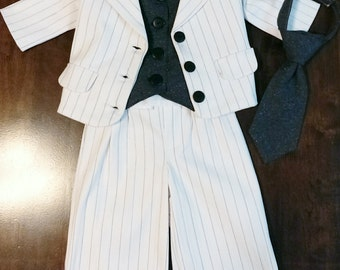 Toddler 3 Piece suit Size 1 to 4yrs Jacket, vest, pants with additoinal options to add on to suit set