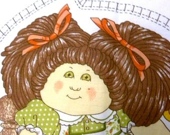 Cabbage Patch Doll Pillow CPK Cotton Fabric Vintage Fiber Gardener