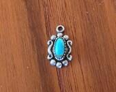 925 & genuine turquoise charm vintage