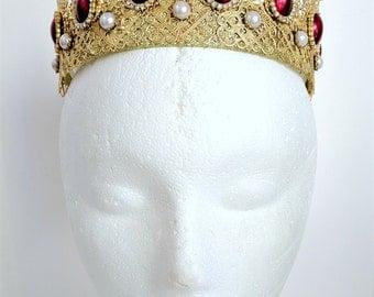 Last One - Renaissance Tiara, Medieval Crown, Renaissance Jewelry, Tudor Crown, Headpiece, Headdress, Medieval Tiara, Cosplay,  U Pick Color