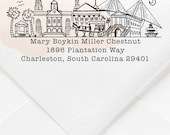 Charleston, South Carolina Custom Return Address Stamp