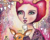 Fawn Whispers - Art Print
