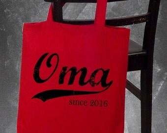 Oma since . screenprinted tote bag