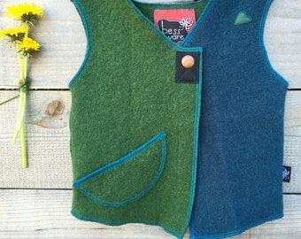Merino Wool Sunshine Vest, approximately 12-36 months