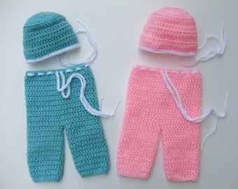 Crochet Baby Scrubs, Doctor Scrubs, Nurse Scrubs, Photography Prop, You Pick Size and Color, Ready to Ship
