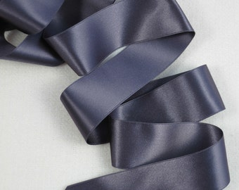 3Y Slate Gray Satin Ribbon 1.5 inch wide