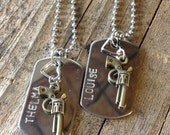 Thelma and Louise Dog Tag Necklace Set expedited