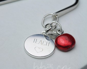 Bookmark Red Apple Teacher's Gift