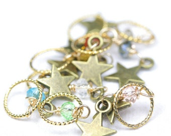 Star Stitch Markers Set of 8 - Leilani's Knitting Bling