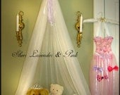 Bedroom Nursery Crib Canopy CROWN Nursery Sheer Mosquito Netting Lavender White Custom design So Zoey Boutique Your choice of bow color SaLe