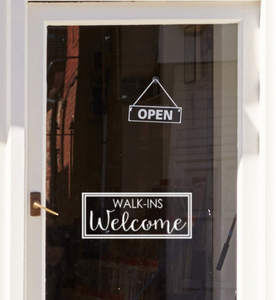 Like this item? & Walk Ins Welcome Door Decal Front door decor office vinyl