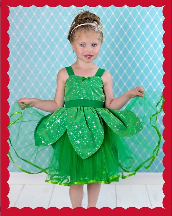 Tinkerbell costume, Halloween Costume, Tinkerbell tutu, Fairy costume, Tinkerbell party dress, girls costume