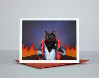 AC Hits 88 MPH Greeting Card