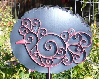 Garden Tool holder - Curly Cue Rooster