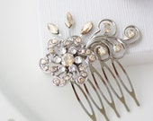 Bridal Comb Rhinestone Crystal Comb Wedding Crystal Hair Comb Small Bridal Comb Golden Shadow Hair Comb Wedding Accessory SABINE SMALL